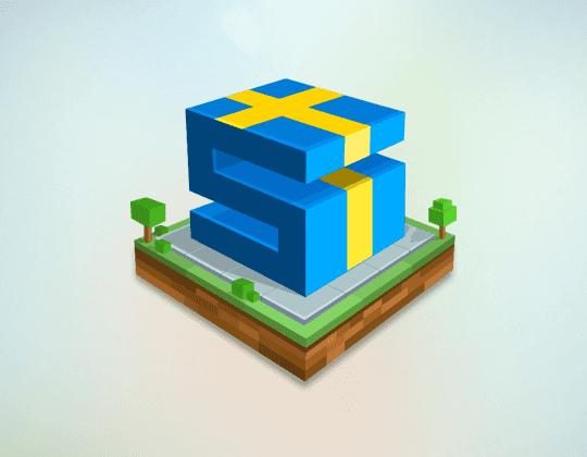 Logotyp i 3D från spelet Sweet City